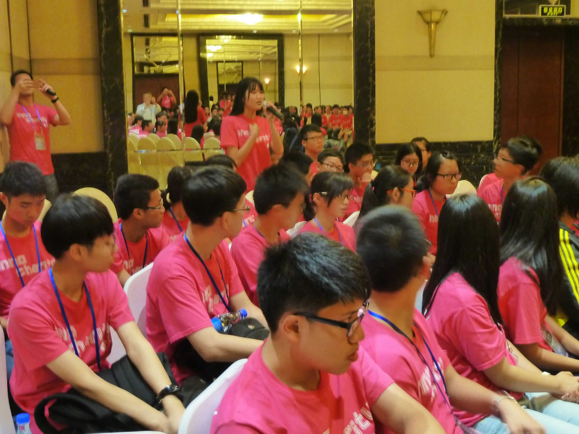 學生參與集思會及發言